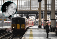 Une gare et en médaillon Lauren