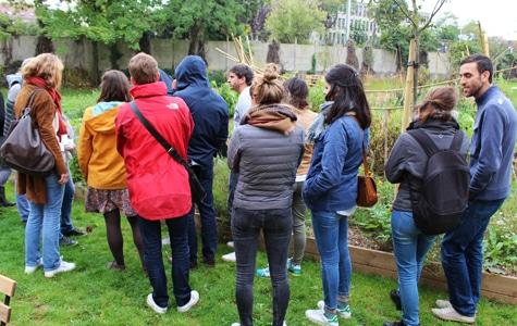 Groupe de personne à Foodentropie au château de Nanterre