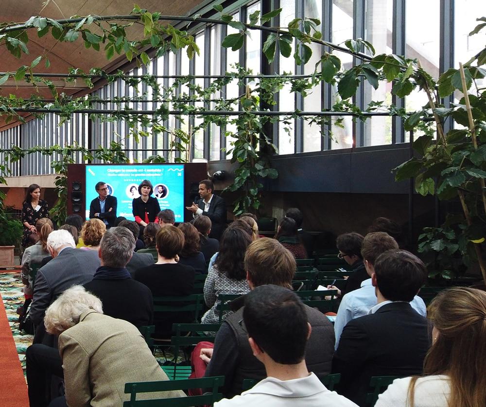 Photo d'une conférence MySezame à Station F